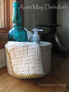 homespun living: Aunt May Dishcloth