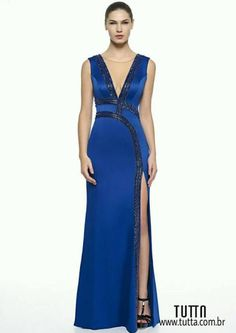 vestido de festa com fenda dress fest casamento formatura madrinha festa Night