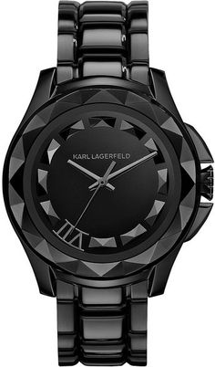 Karl Lagerfield ~ Klassic Stainless Steel Mens Watch... Omg this watch is epic!! Would look fabulous on my husband!