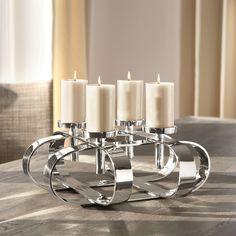 Luxus pur: Extravaganter Kerzenleuchter Gorden, Ø 49 cm groß von Fink Living