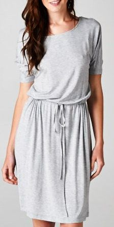 Carrie Dress in Heather Gray wit some gladiator sandals or one strap short wedges...