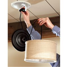 Drum Pendant Shade Adapter - Recessed Can Light