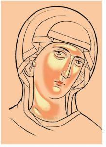 Visit the post for more. Byzantine Icons, Byzantine Art, Religious Icons, Religious Art, Writing Icon, Monastery Icons, Tin Foil Art, Sketch Icon, Face Icon