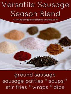 Versatile Sausage Season Blend :: For Use In Breakfast Sausage And To Season Stir Frys, Soups, Wraps, & Dips!