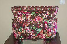 Vera Bradley English Rose Get Carried Away Tote XL Bag Purse | eBay