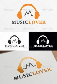 Music Lover  - Logo Design Template Vector #logotype Download it here: http://graphicriver.net/item/music-lover-logo-template/4034087?s_rank=1574?ref=nexion