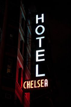 Chelsea Hotel - sign by ivan.kovacevic, via Flickr