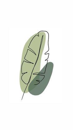 Minimalist Palm Leaf Illustration