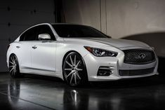 2014 White Infiniti on XO Luxury Sydney Matte Black w/ Brushed Face & Milled Spokes 2015 Infiniti Q50 Sport, Infiniti G37, Matte Cars, Maserati Gt, Best Luxury Cars, Car Shop, Future Car, My Ride, Cars Motorcycles