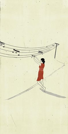 Italian illustrator, Alessandro Gottardo, has a new fan in me. I'm in love with his quiet depictions of music in such sweet and simple ways. {Images via My Modern Met} Art And Illustration, Musik Illustration, Art Illustrations, Minimalist Music, Music Notes, Music Music, Sheet Music Art, Music Life, Poster