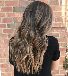 Gorgeous hair color with highlights - brown hair with highlights ,balayage hair , balayage highlights #haircolor #brownhair #balayage #balayageombre #Brunette #beachwave #haircolor