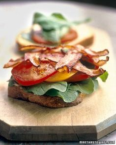 BLT. This might be a bit expensive for a large crowd, but it looks delicious and light!