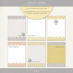 Oscraps :: Shop by Category :: All New :: instant photo   printable journaling cards