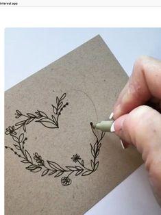Doodle Art 437693657536381368 - Cœur végétal Source by monique_durand Diy And Crafts, Arts And Crafts, Paper Crafts, Crafts For Gifts, Embroidery Hearts, Embroidery Alphabet, Envelope Art, Envelope Design, Diy Cards