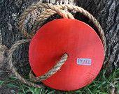 "Round Tree Swing - Red, Pretty & Patriotic ""Peace"""
