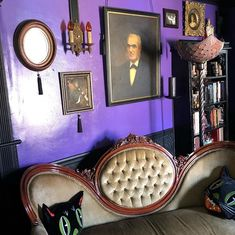 "GothProf on Instagram: ""#gothic #victorian Our quarenteen project: turn an unused, dingy white storage room into a Gothic Victorian Spirit Parlor."""