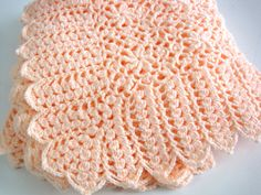 Crocheted Baby Blanket Baby Girl Flowers Soft by AfghansForBabies, $55.00