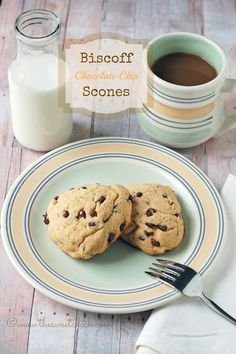 "Biscoff Chocolate Chip Scones - ""Heck, what better than a scone with Biscoff and chocolate chips?  Nothing that's what."""