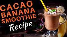 Superfoods Smoothie - Healthy Banana Cacao Smoothie Recipes Healthy Smoothies, Smoothie Recipes, Cacao Smoothie, Nutribullet, Superfoods, Unity, Banana, Gym, Tableware