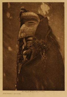 Kwakiutl and Navajo tribes. Edward S. Curtis circa 1914.