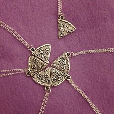 "Best Friends Necklaces!  Buy 6 to make a whole pizza! One ""slice"" per order.  Please allow 2 weeks for shipping."