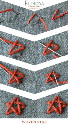woven star stitch tutorial