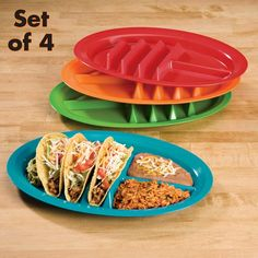 Never spill your tacos again with these Fiesta Taco Plates! fiestaware plates