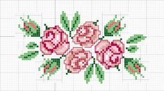 Artes da Nique: Ponto cruz gráfico Flores