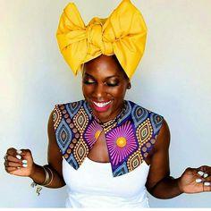 African Printed Collars by Kaela Kay