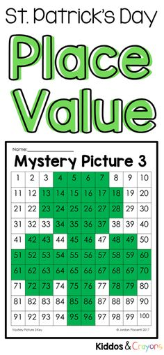 My students love incorporating holidays into our math practice. This set of St. Patrick's Day activities are perfect for reviewing place value during March. While completing these mystery pictures, students will work to solve place value problems then use the key to color a 100s chart to reveal a mystery picture. #placevalue #stpatricksday #math