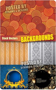 Backgrounds 3 - Stock Vectors 5 EPS |   JPG Preview | 28 Mb rar