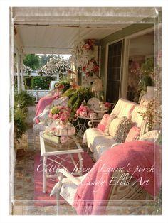 Cottage friend Laura's beautiful porch