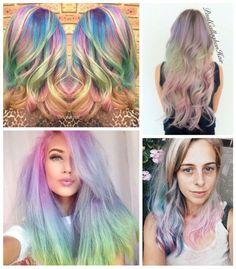 Cabelo Coloridos: Opal hair