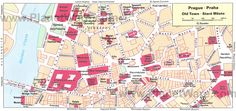 Prague Old Town map - Tourist attractions