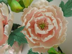 sugar peony Sugar Paste Flowers, Icing Flowers, Clay Flowers, Cake Decorating Tutorials, Decorating Cakes, Pink Peonies, Peony, Easter Cupcakes, Wedding Cakes With Flowers