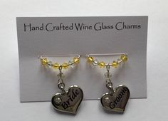 Wine Glass Charms, Swarovski Pearls, Bridal Accessories, Charmed, Weddings, Bracelets, Handmade, Crafts, Jewelry