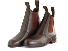 BROWN LEATHER DRESS BOOTS High quality, premium grade leather, hand-made dress boots. Perfect for casual wear, or going out.  Available at www.murtaghridingboots.com.au.