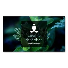 Serene Yoga, Meditation, Zen Business Card