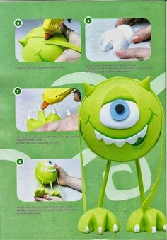 Toy Art, Foam Crafts, Diy And Crafts, Monsters Ink, Pikachu, Marie, Halloween, How To Make, Fun