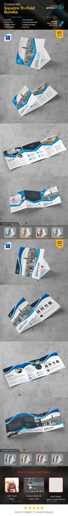 2 Square Tri-Fold Brochure Template PSD. Download here: http://graphicriver.net/item/bundle_square-trifold-2-in-1/16826477?ref=ksioks