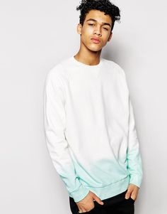 Sweatshirt by ASOS Loop-back sweat Round neck Raglan shoulders Ribbed trims Oversized fit - falls generously over the body Machine wash Cotton Our model wears a size Medium and is tall Asos, Raglan, Models, Dip Dye, Latest Fashion, Style Me, Sweatshirts, Long Sleeve, Cotton