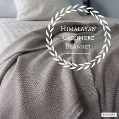 Himalayan Cashmere Blanket   www.desideratadecor.com
