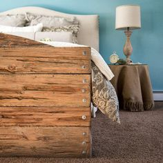 That time I made a footboard from fresh pine into a faux driftwood footboard...... Piece of cake! #customfurniture #customdesign #interiors #hamptonbays #faux #driftwood #cozy #interiordesign #kirodesign #handcrafted #footboard