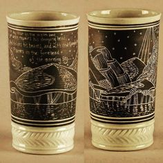 #beewareceramics #potsinaction #pottery #ceramics #clay #porcelain #handcarved #wheelthrown #art #cup #handmade #drink #tumbler #beauty #symmetrical #whimsical #bright #blackandwhite #fire #glaze #quotecup #sailboat #sea #water #nature #boat #wedding #glaze #fit by beewareceramics