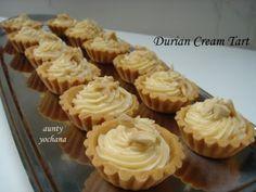 Tart Recipes, Snack Recipes, Dessert Recipes, Cooking Recipes, Snacks, Pie Crust Pastry, Pastry Cake, Durian Recipe, Durian Cake