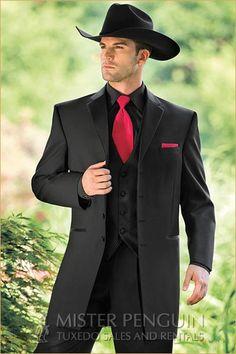 Andrew Fezza Black Savannah Western Tuxedo