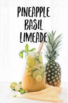 Pineapple Basil Limeade http://www.healthstartsinthekitchen.com/recipe/pineapple-basil-limeade/