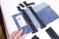 コインキーケースの作り方[型紙無料ダウロード] | ひらめき工作室 Bag Making, Wallet, Purses, Denim, Sewing, Cute, How To Make, Bags, Fashion