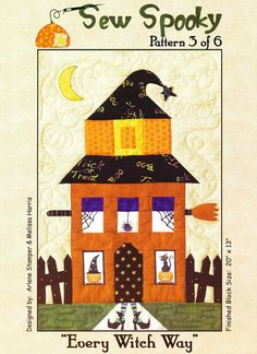 trendy applique quilting patterns block of the month Halloween Applique, Halloween Sewing, Halloween Quilts, Halloween Patterns, Halloween Crafts, Hand Quilting Patterns, Quilting Templates, Quilting Projects, Quilting Ideas