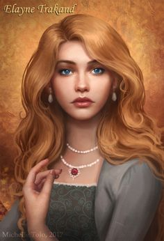 Michelle Tolo Artwork: Elayne Trakand, from the Wheel of Time book series by Robert Jordan.